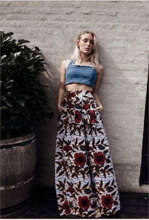 Red Rosa Maxi Skirt