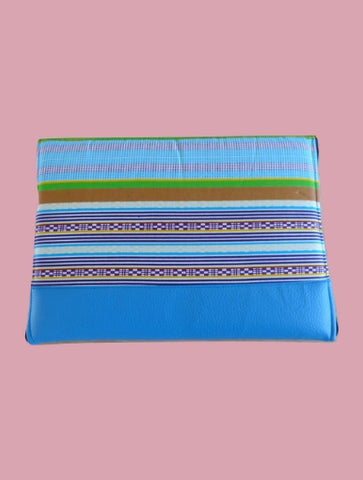 Blue line Laptop Case - Qiim