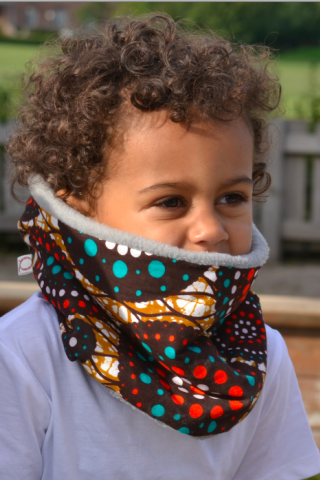 The Dot Cowl Grey - Qiim