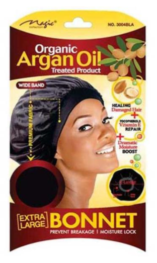 Magic Collection Women's Organic Argan Oil Treated Extra Large Bonnet ( 3004 )