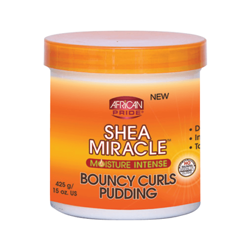 African Pride Shea Butter Miracle Moisture Intense Bouncy Curls Pudding 425g
