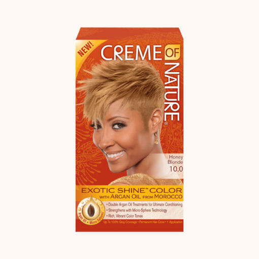 Creme Of Nature Exotic Shine Permanent Hair Colour # Honey Blonde - 10.0