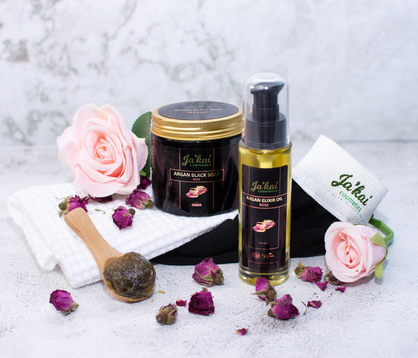 Argan Black Soap Rose