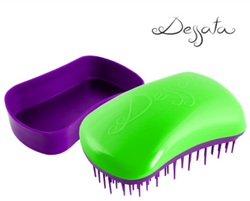 Dessata Mini Detangling Brush. Green & Purple