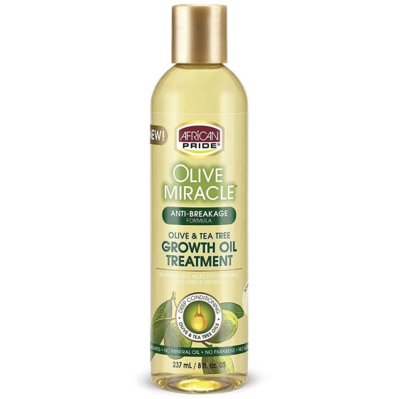 African Pride Olive Miracle Anti-Breakage Maxi Strengthening Growth Oil 237ml