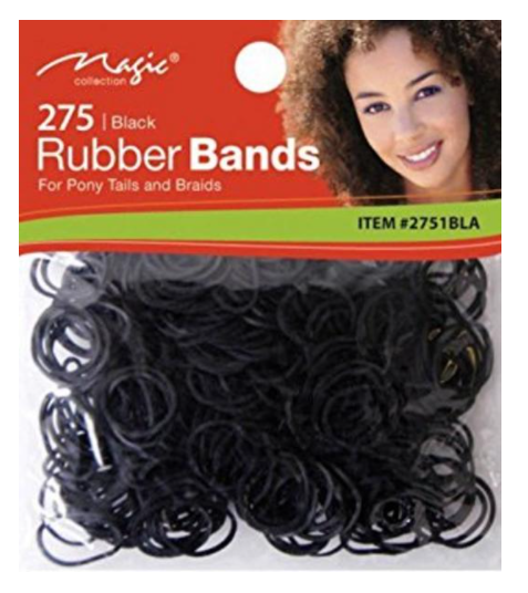 Magic Collection 250 Elastic Bands Black- 332