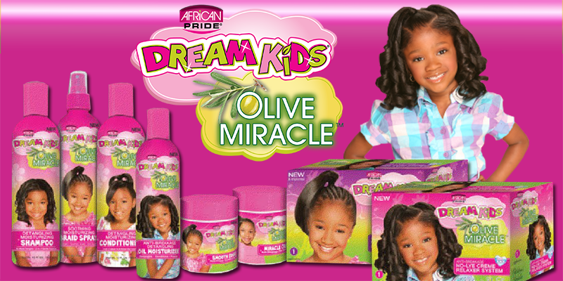 African Pride Dream Kids Olive Miracle Touch-Up Relaxer, Coarse 227g