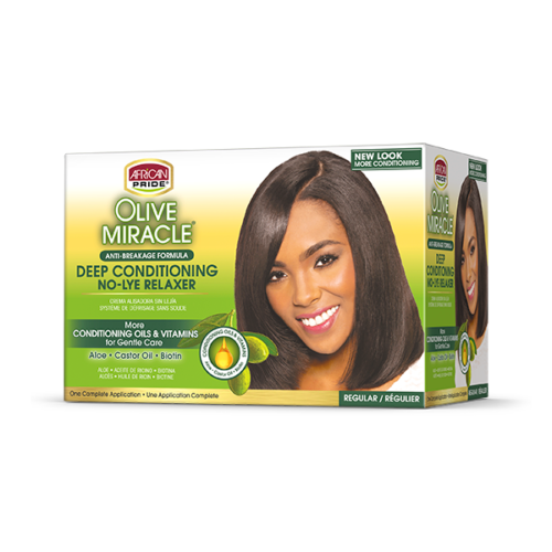 African Pride Olive Miracle Deep Conditioning No-Lye Relaxer (Regular)