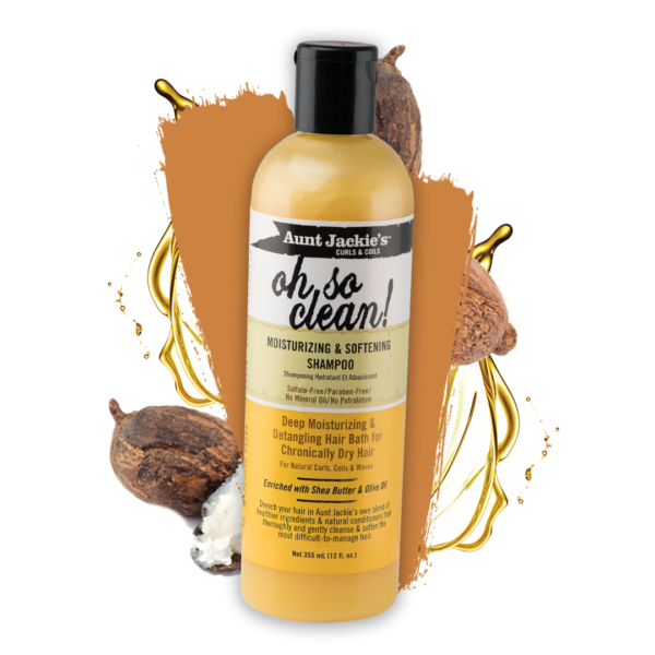 Aunt Jackie's Oh So Clean Moisturizing & Softening Shampoo 12oz