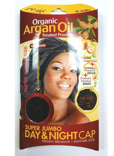 Magic Collection Women's Organic Argan Oil Treated Super Jumbo Day & Night Cap ( 3015 )