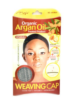 Magic Collection Women's Organic Argan Oil Treated Weaving Cap - 3013Bla