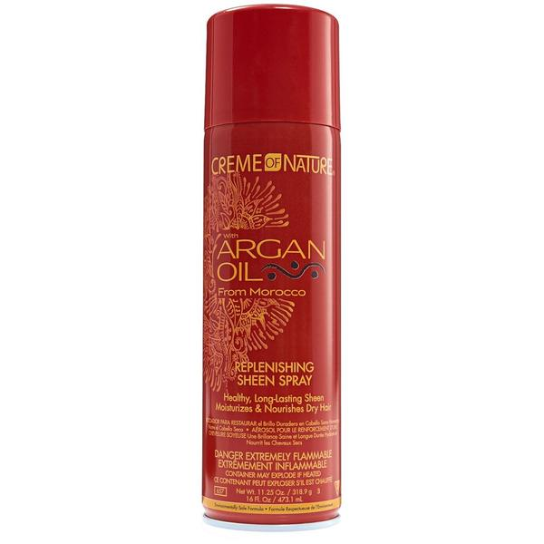 Creme Of Nature Argan Oil Replenishing Sheen Spray 160z