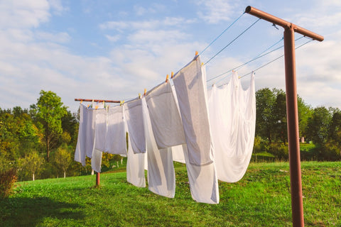 bamboo sheets on clothes line