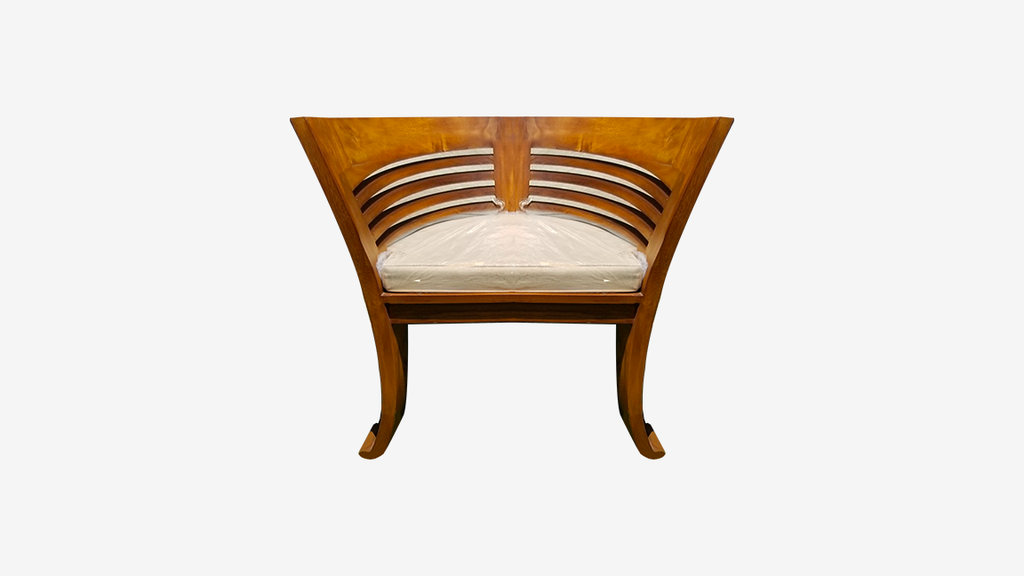 Teak Cushioned Chair
