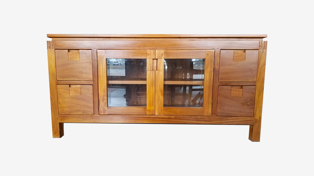 Teak Glass Buffet