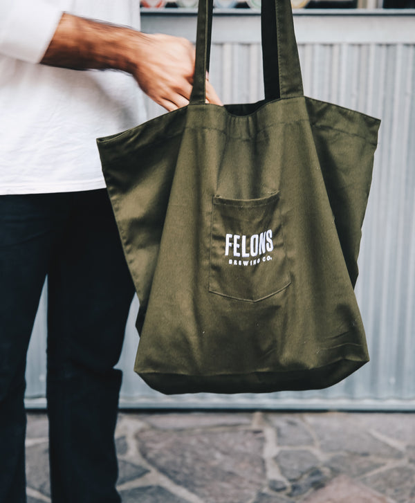 Green Market Tote Bag