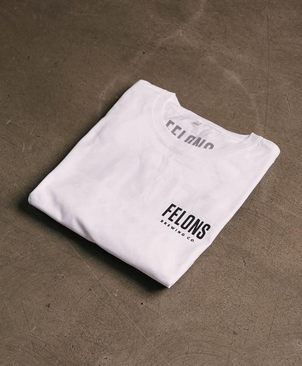 Black on White Felons Tee