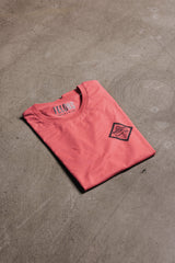 Carmine Red Barrel Hall Tee