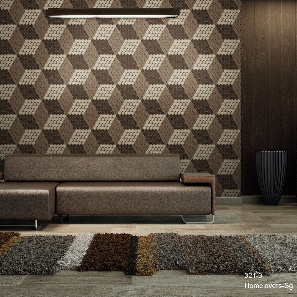 Geometric Pattern Wallpaper 321-3 (Korea)