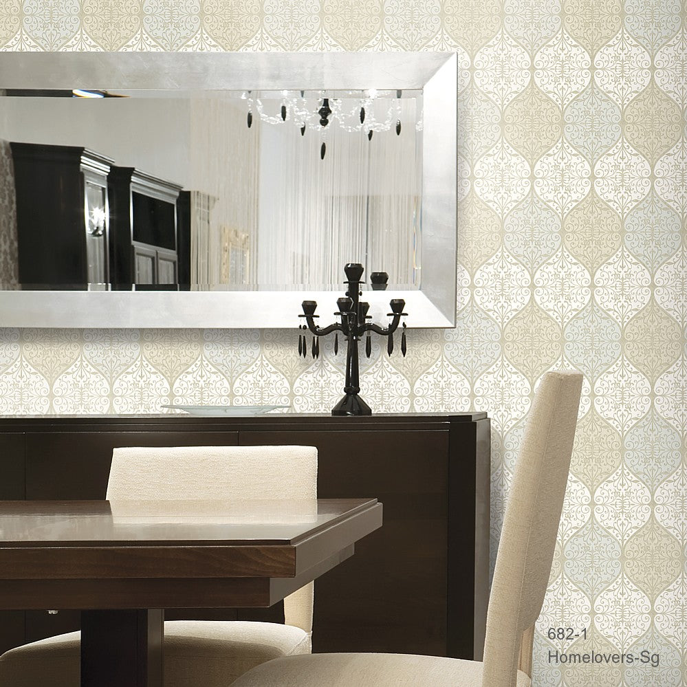 Geometric Design Wallpaper 682-1 (Korea)