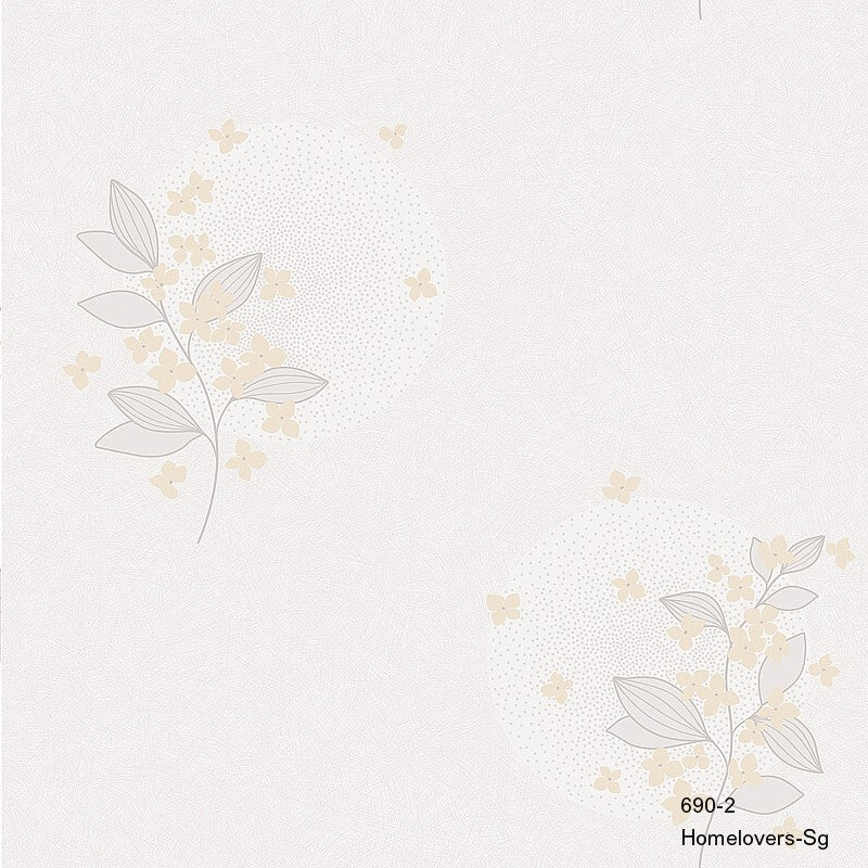Flower Design Wallpaper 690-2 (2 colourways) (Korea)