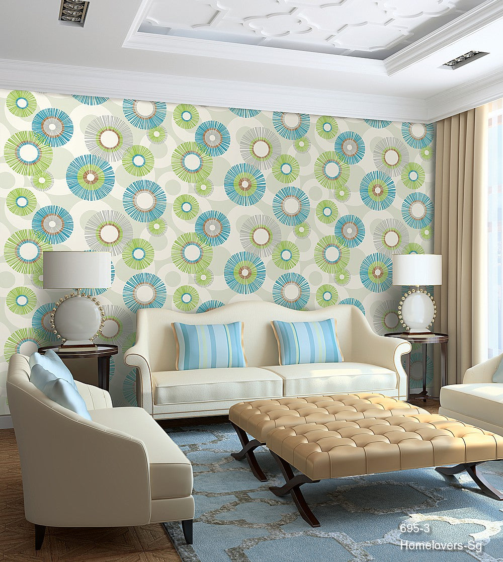 Geometric Design Wallpaper 695-3 (Korea)