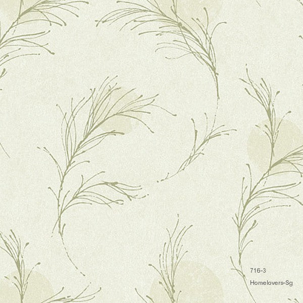 Leaf Design Wallpaper 716-2 (2 colourways) (Korea)