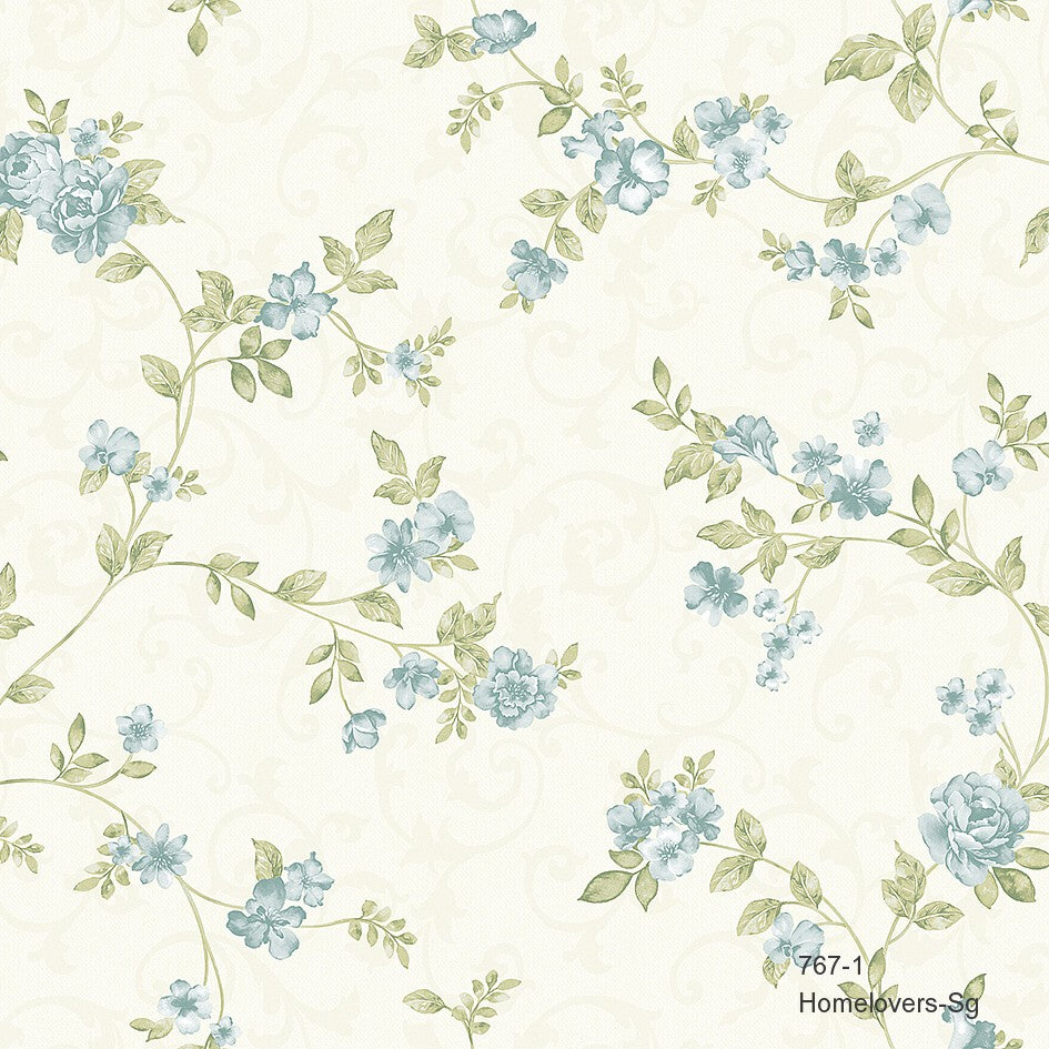 Flower Design Wallpaper 767-1 (2 colourways) (Korea)