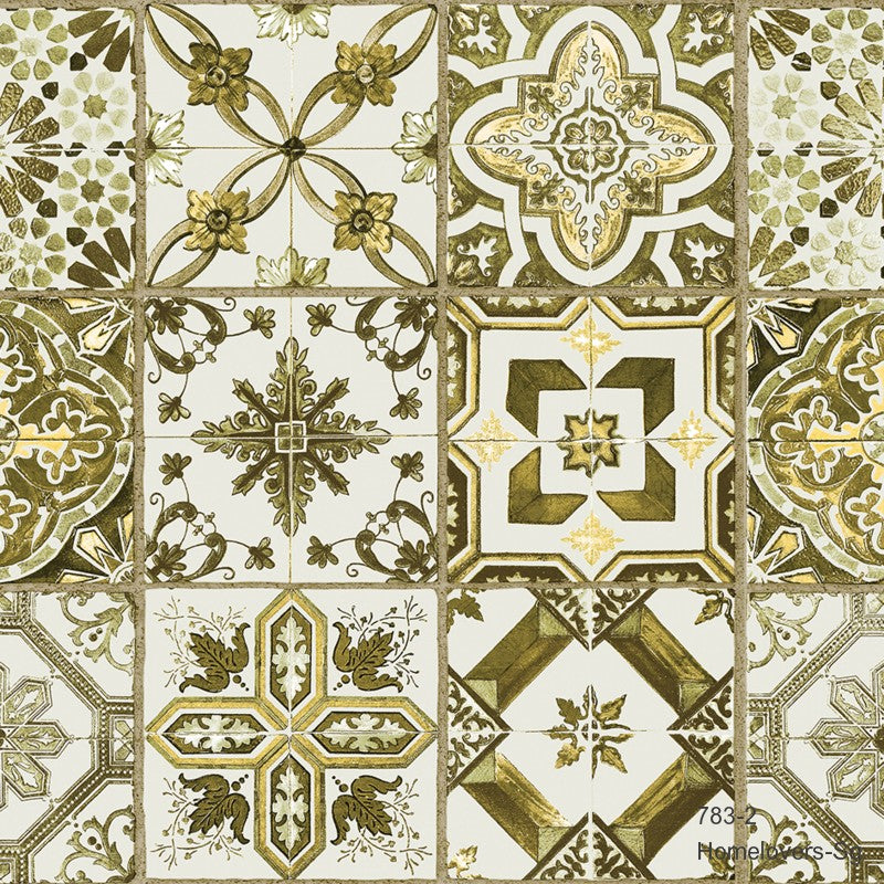 Geometric Tiles Pattern Wallpaper 783-2 (Korea)