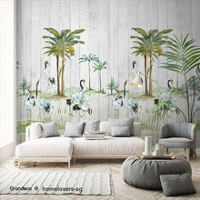 Load image into Gallery viewer, Tropical Wood Digital Mural (Belgium)