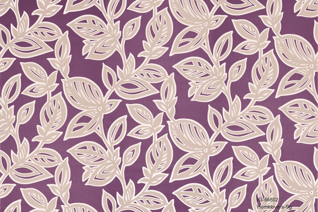 Leaf Design Wallpaper IG-66502 (6 colourways)