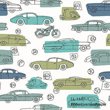 Load image into Gallery viewer, Cars & Bikes Wallpaper  LL11 (3 colourways) (Belgium)
