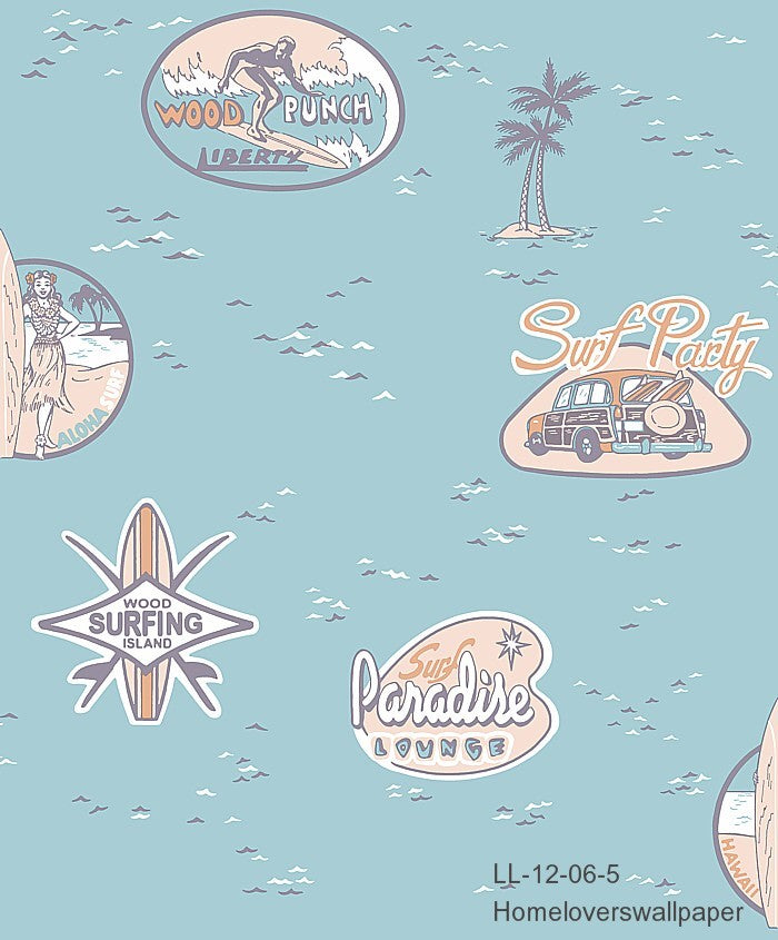 Surfer Paradise Wallpaper LL 12 (2 colourways) (Belgium)