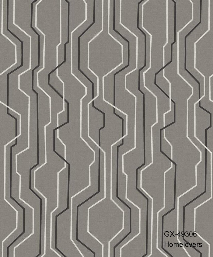 Geometric Design Wallpaper-GX-49309 (4 colourways)