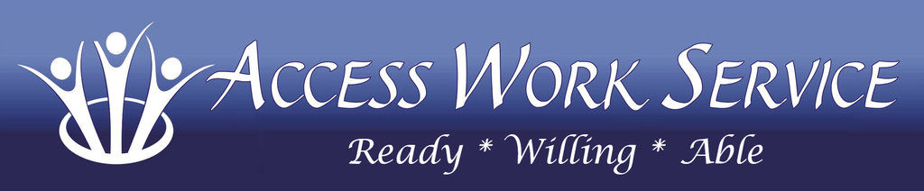 Access Work Service Ready Willing Able Logo