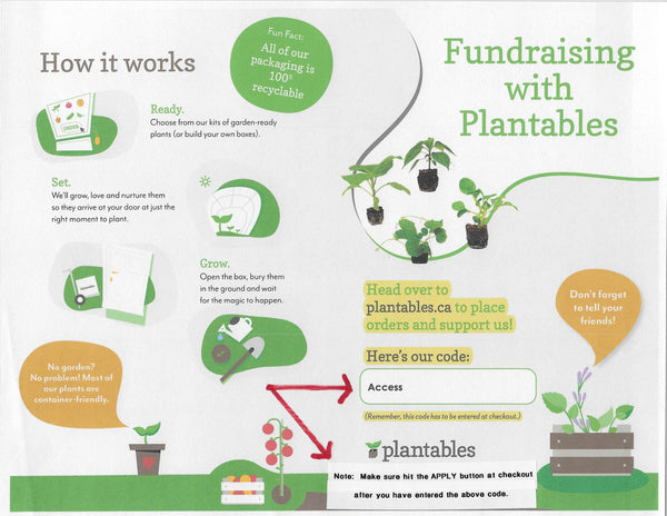 Plantables Fundraising Page 1