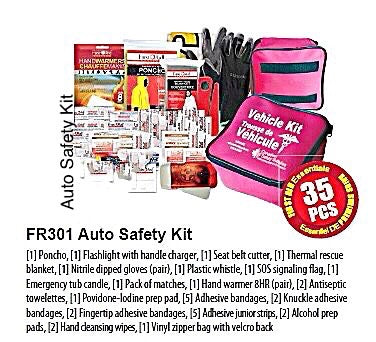 Auto Safety Kit, Emergency kit with contents