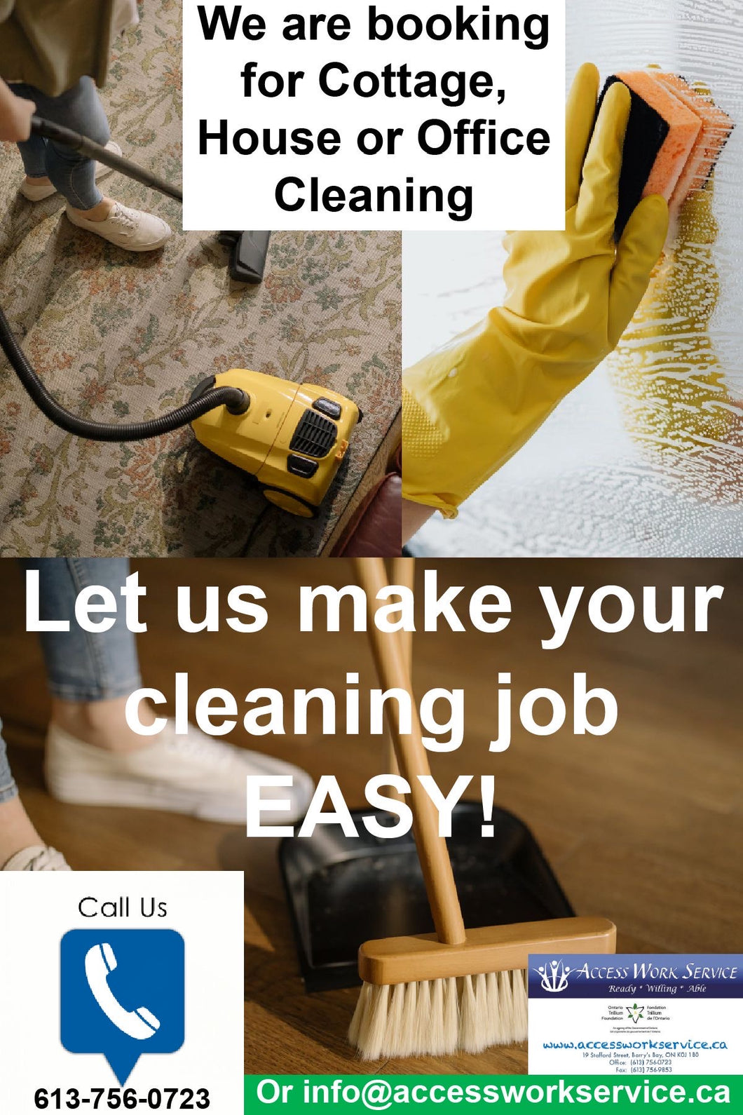 Vacuum, cleaning a surface, sweeping the floor with dust pan and broom