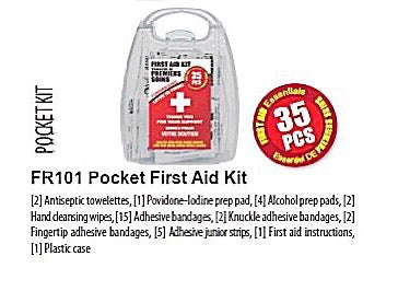 Pocket First Aid Kit, kit contents
