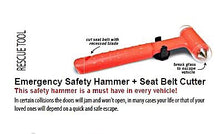 Load image into Gallery viewer, Rescue Tool - Emergency Safety Hammer + Seat Belt Cutter Rescue Tool