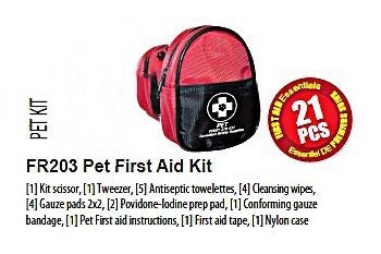 Pet First Aid Kit, kit contents