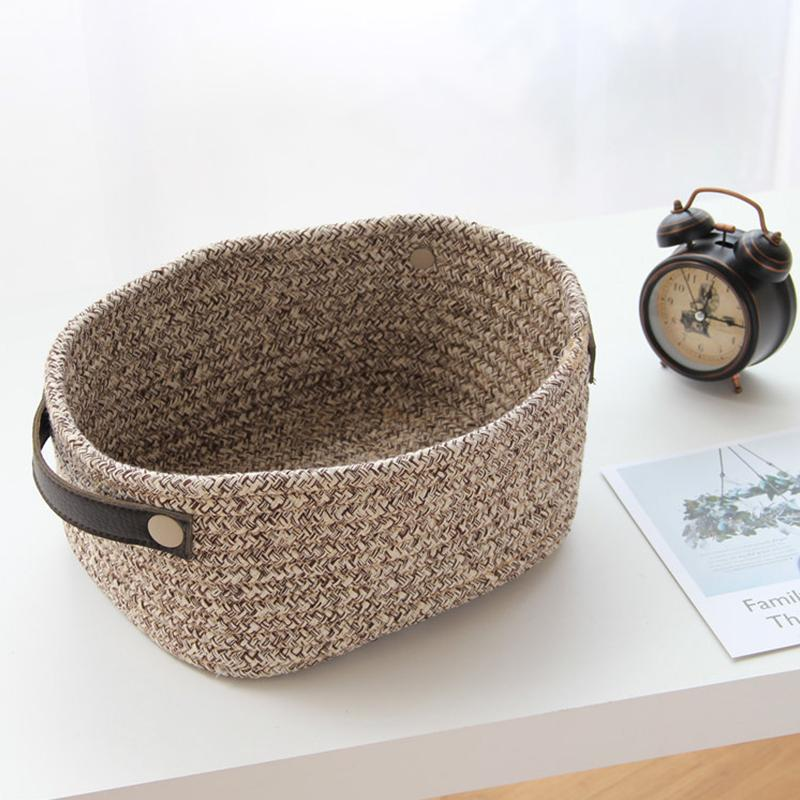 Cotton Woven Fabric Storage Basket - AIO4HOME