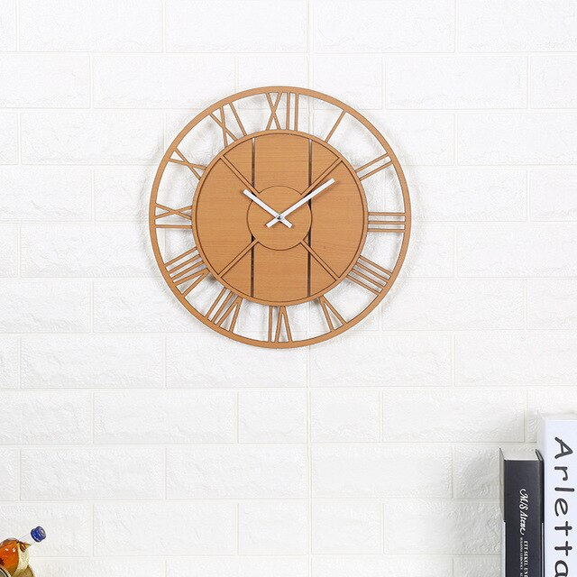 Wooden Retro Style Wall Clock - AIO4HOME