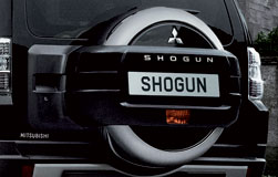 Mitsubishi Shogun Spare Wheel Cover, Double Shell- Chromed