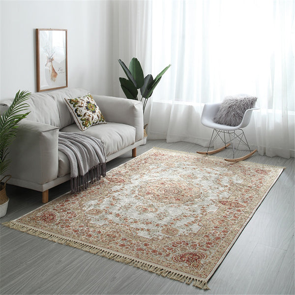 European Style Tassel Soft Carpets For Living Room Bedroom Rugs Home