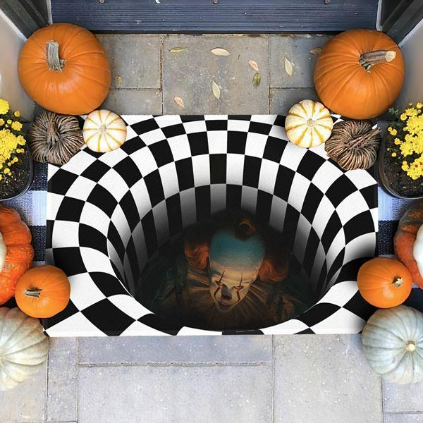 3D Stereo Vision Carpet Halloween Illusion Doormat Anti-Skid Carpets for Living Room Area Rugs Home Bedroom Floor Mat