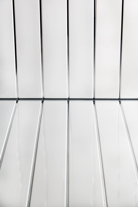 Twin Chrome Ceiling Cladding