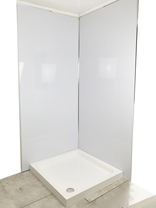 white gloss 1m wide pvc cladding shower panels wall panels