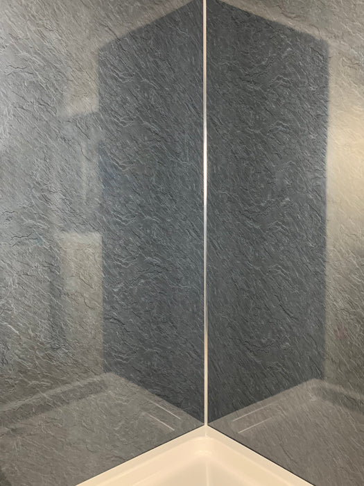 slate marble pvc cladding shower panels dark grey 1m  wide