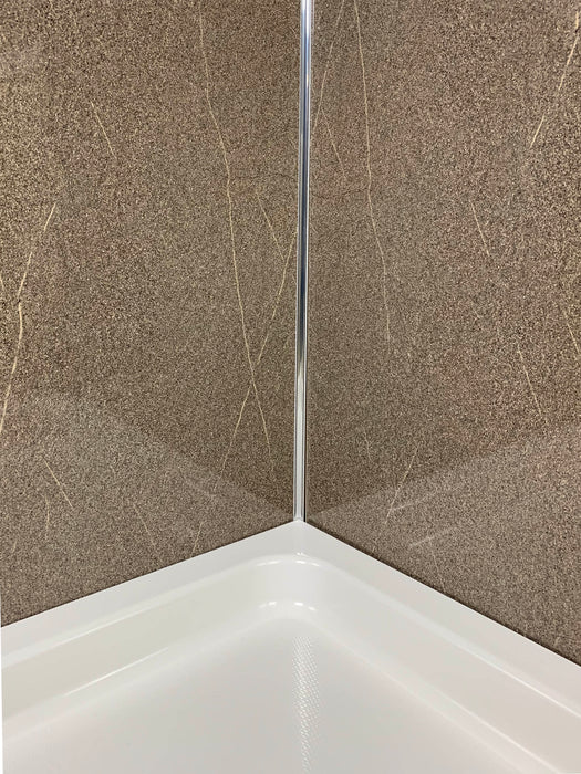 Polished Stone 1m Wide PVC Cladding 10mm